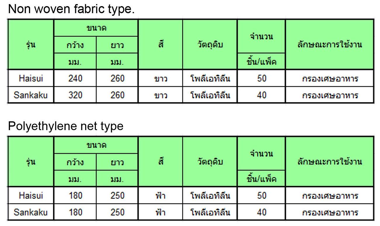mizukiri Table Size1